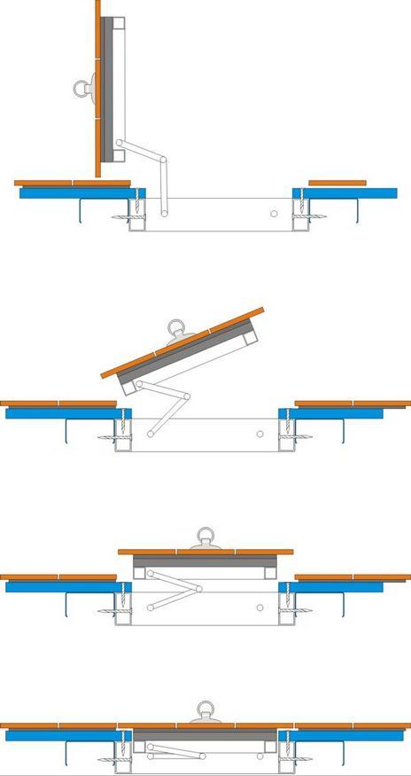 Схема открывания люка